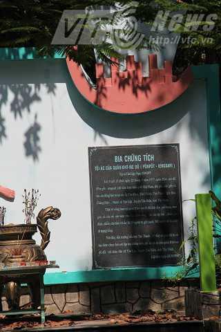 Bia chứng tích tội ác Khmer Đỏ  ở Tân Lập
