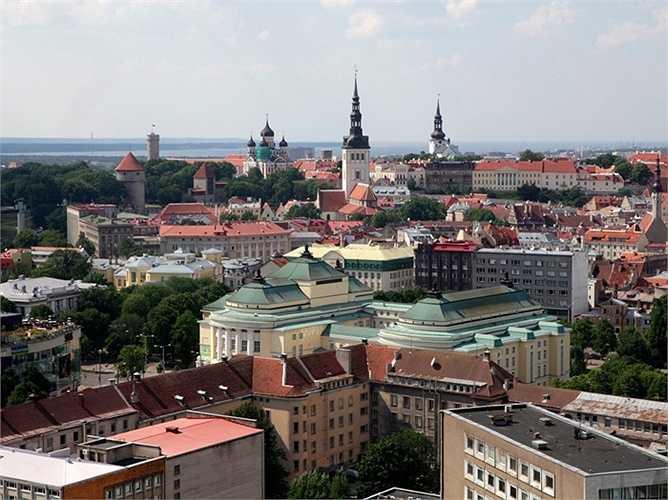 3. Estonia (Tallinn): Giá nhà tăng thêm 8,99% so với cùng kỳ năm 2014, mức tăng cao thứ 3 trong bảng xếp hạng dù mức tăng này đã giảm một nửa so với mức tăng 16% của năm ngoái.