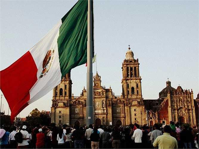 8. Mexico: Giá bất động sản tăng 6,38%, mức tăng cao gần gấp đôi so với mức tăng của năm 2014.
