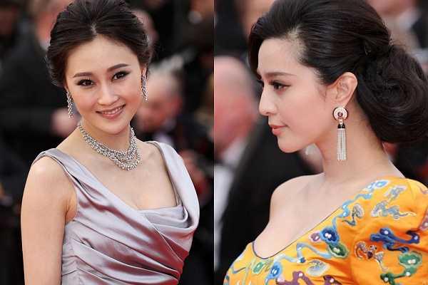 Phạm Băng Băng nhiều lần tham dự thảm đỏ và cũng không ít lần đỏ mặt vì sự cố bẽ bàng. Trong lần đầu tiên dự Cannes, cô khéo léo chuẩn bị bộ cánh như nữ hoàng. Nhưng một sự cố sau đó được truyền thông quốc tế đăng tải khiến người đẹp muối mặt. Theo đó, ban tổ chức gọi nhầm tên Lâm Bằng (trái) là Phạm Băng Băng, còn khi người đẹp họ Phạm thật sự xuất hiện chỉ được giới thiệu 'một diễn viên Trung Quốc'.