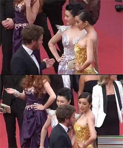 Cô không nắm được quy định về thời gian trên thảm đỏ và liên tục bị nhân viên an ninh nhắc nhở. Đáp lại, nữ diễn viên thể hiện sự khó chịu ra mặt.