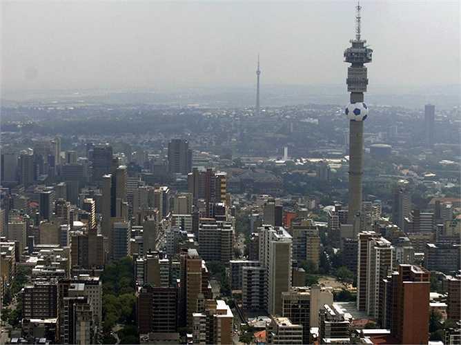 Johanesbourg - Không xếp hạng quá cao nhưng thành phố của Nam Phi đã có mức thăng hạng đáng kể trong top 100 từ vị trí thứ 54 lên 32 trong vòng chưa đến 5 năm