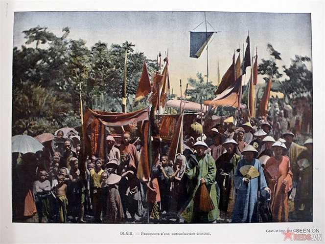Đón rước các sứ thần Trung Quốc.