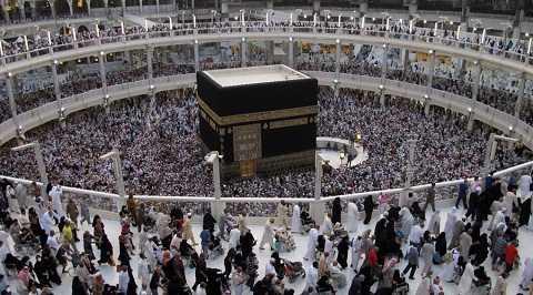 Hình ảnh dòng người đổ về Đại giáo đường Hồi giáo
