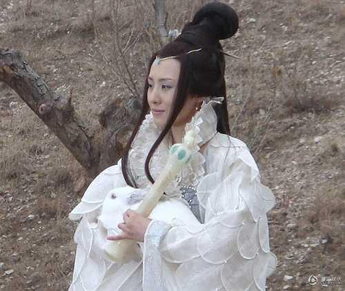 Vợ 'Đường Tăng' Nhiếp Viễn, Dương Quang có tạo hình 'kỳ quặc' khi đảm nhận vai Hằng Nga trong Tân Tây du ký. (Nguồn: Dân việt)