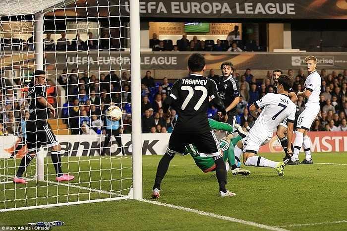Pha đệm bóng cận thành của Son Heung Min đã mở ra màn ngược dòng thành công cho Tottenham