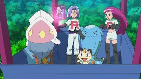 Đội Hỏa Tiễn: Musashi, Kojirou, Nyasu – những đại diện cho thế lực hắc ám chuyên săn lùng, bắt giữ Pokémon.