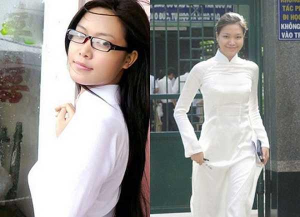 Hoa hậu Thùy Dung sở hữu thân hình tuyệt đẹp trong tà áo dài.