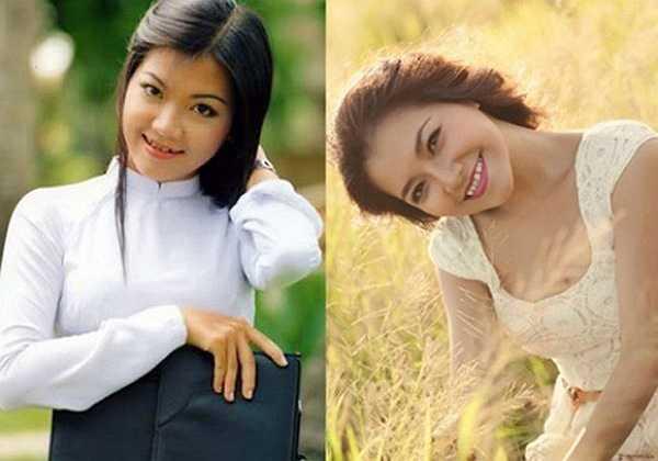 Nữ ca sĩ Thanh Ngọc có vẻ đẹp nữ tính, dịu dàng và đặc biệt xinh đẹp trong tà áo dài.