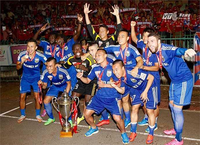 B.Bình Dương sở hữu dàn sao mạnh nhất Việt Nam khi mỗi vị trí, họ đều có 2 cầu thủ để luân phiên thay đổi. (Ảnh: VSI)