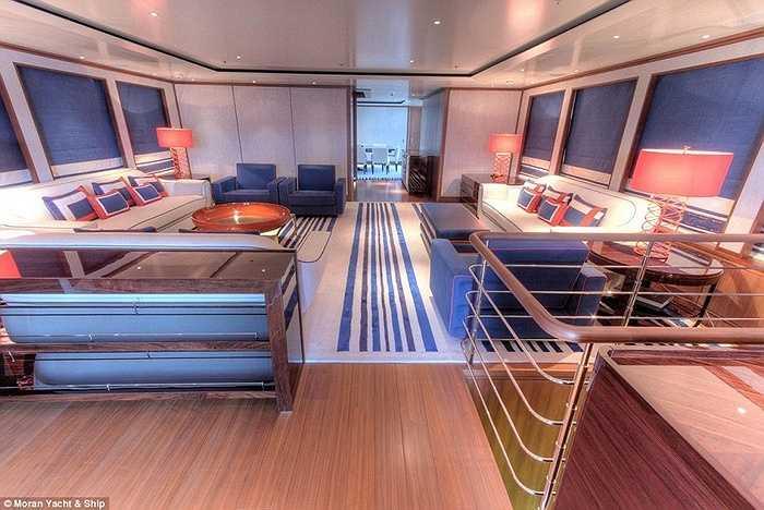 Du thuyền có nhiều phòng giải trí