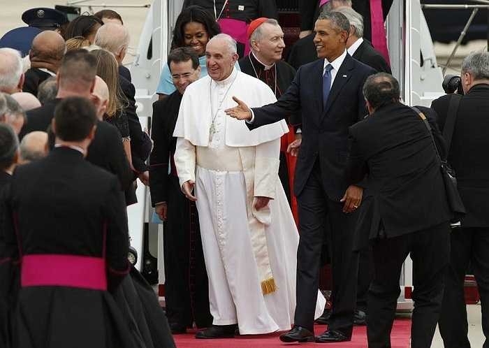 Tổng thống Mỹ Barack Obama cùng cả gia đình và Phó Tổng thống Joe Biden