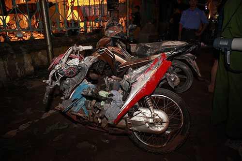 Những chiếc xe máy, tài sản của người dân đã được đưa về PC54 để phục vụ công tác điều tra sau này và đảm bảo tài sản của người dân