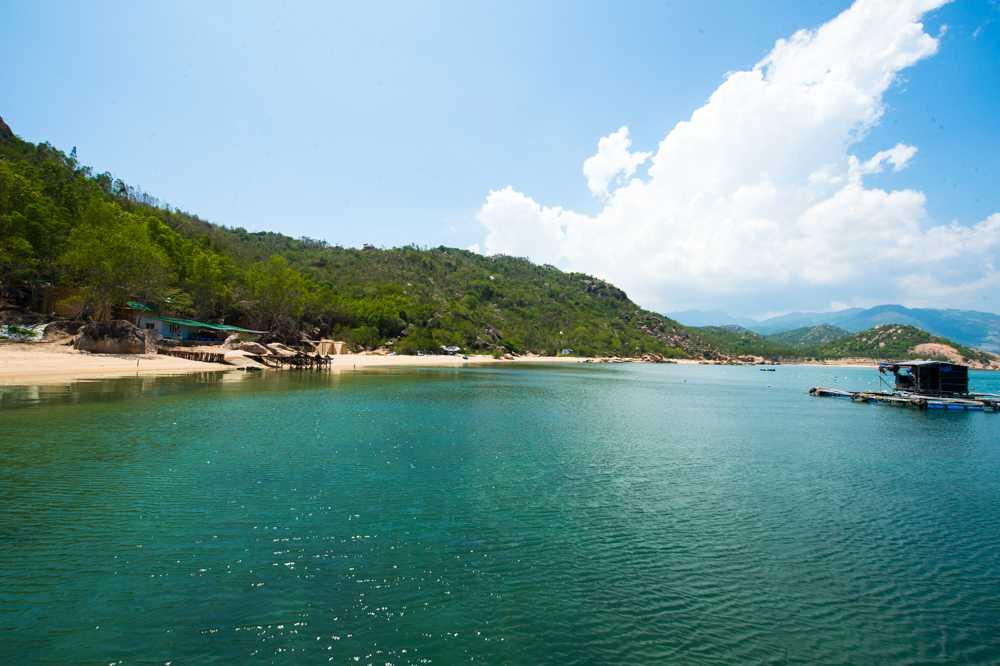 Du khách có thể tự chèo thuyền ra nhà bè để tìm hiểu việc nuôi cua biển