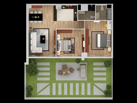 Khu vườn rộng trên 55m2 là khoảng không gian xanh quý giá cho những căn hộ tại Hà Nội. Chủ nhân sẽ được ngắm không gian xanh của riêng mình từ trên cao.