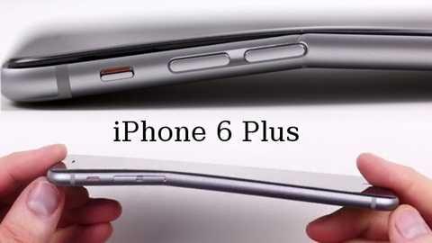iPhone 6 Plus từng gắp sự coosmafn hình dễ bị bẻ cong