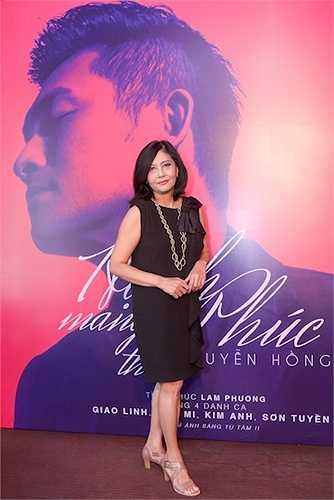 Danh ca Hoạ Mi. Do hai nữ ca sỹ Giao Linh, Sơn Tuyền không có mặt ở Việt Nam, nên để lỡ buổi họp báo.