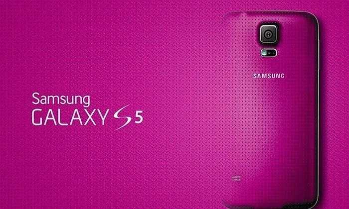 Samsung Galaxy S5 sở hữu thiết kế mặt lưng 'huyền thoại' của Samsung nhưng được bổ sung thêm một phiên bản màu hồng khá nữ tính