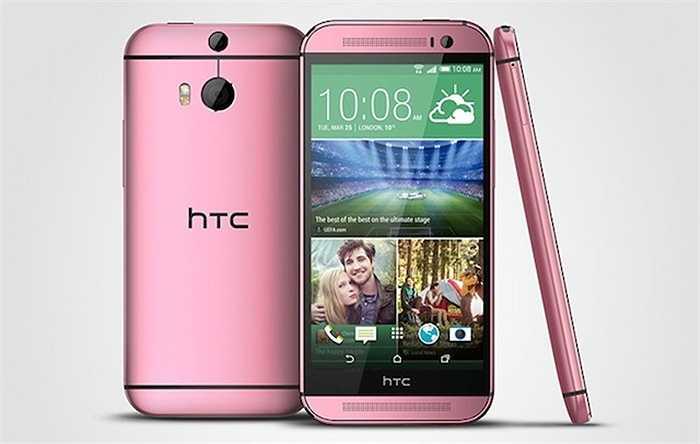 Ngày 25/7 vừa qua, HTC đã cho đặt hàng hai phiên bản màu hồng và đỏ cực kỳ cá tính của chiếc One M8. Trong đó, HTC One M8 màu hồng nổi bật hơn hẳn