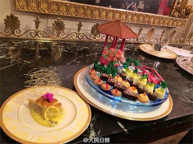 Các món ăn chuẩn bị cho bữa tiệc