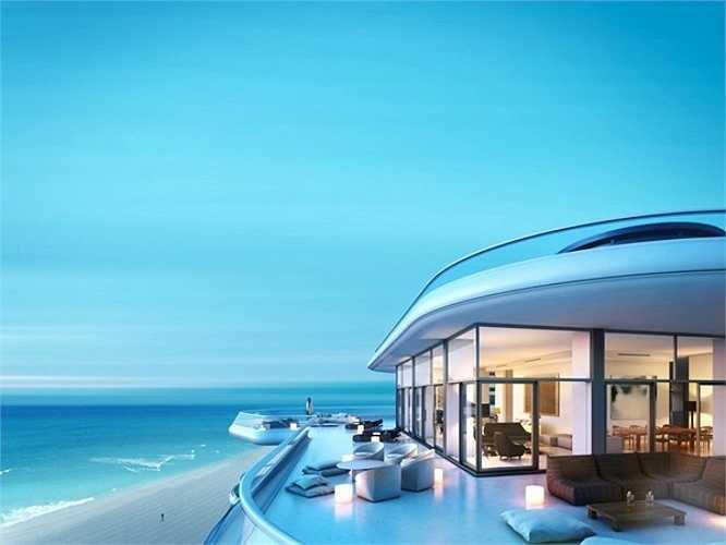 Để nhìn ngắm thành phố Miami thì chắc không có nơi nào tuyệt hơn là căn penthouse Faena, nằm ở tầng cao nhất của biệt thự triệu đô Faena.