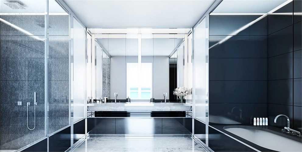 Phòng tắm rộng rãi và hiện đại.