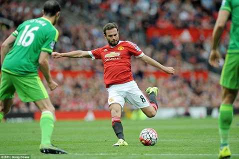 Mata đã có 3 bàn thắng và 3 đường kiến tạo trong 5 trận gần nhất