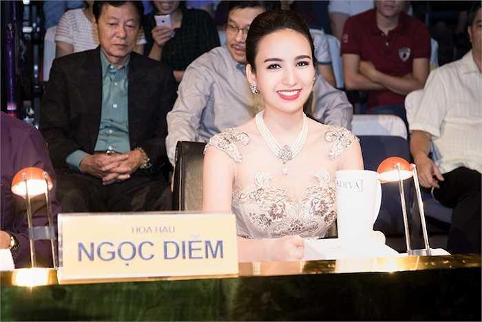 Hoa hậu Ngọc Diễm cũng ngồi ghế nóng của cuộc thi này.