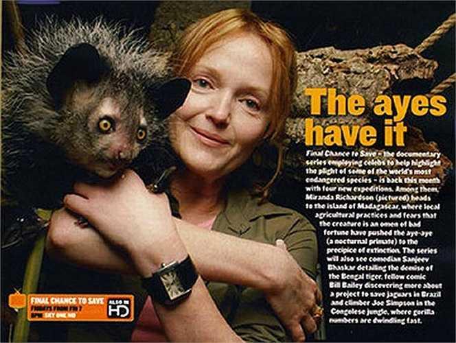 Tuổi thọ của loài này trung bình là 10 năm tuổi. Hiện loài khỉ  Aye Aye đang ở trong tình trạng cực kỳ nguy cấp. Nếu không được bảo vệ, trong thời gian không xa, loài khỉ Aye Aye sẽ chỉ còn xuất hiện trong sách vở.