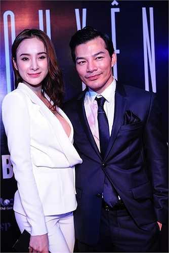 Trước event ra mắt phim Hy sinh đời trai, mỹ nhân 9x cũng đến chúc mừng Trần Bảo Sơn khi phim Quyên chính thức được trình chiếu.