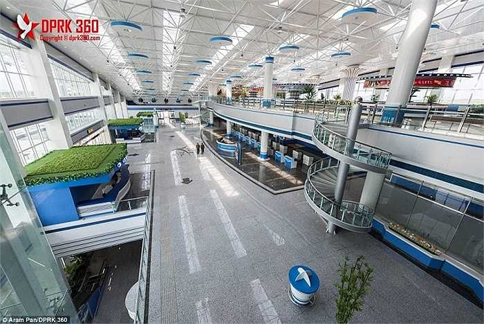 Sân bay quốc tế Wonsan, hay còn gọi là sân bay Kalma ở thành phố cảng Wonsan, phía Đông Bình Nhưỡng hôm 24/9
