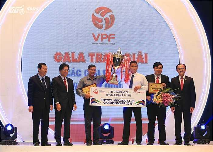 Đây là lần thứ 4 B.Bình Dương vô địch V-League. (Ảnh: Phạm Thành)