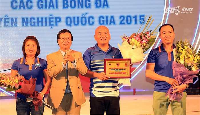 Hội CĐV Than Quảng Ninh giành giải hội CĐV xuất sắc nhất. (Ảnh: Phạm Thành)