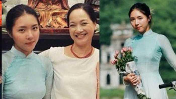 Thừa hưởng nét truyền thống của mẹ, pha thêm vẻ hiện đại, Lam Khê khiến người đối diện cảm thấy cuốn hút.