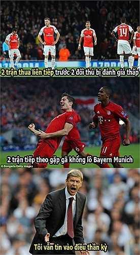 Arsene Wenger vẫn rất tự tin dù thua cả 2 trận mở màn Champions League
