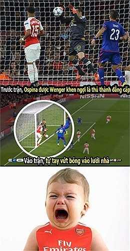 Ospina là cơn ác mộng của các CĐV Arsenal mùa này