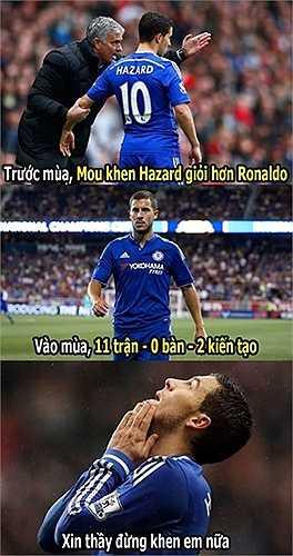 Eden Hazard cầu xin Mourinho đừng khen anh nữa