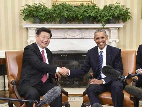 Tổng thống Mỹ Barack Obama tiếp Chủ tịch Trung Quốc Tập Cận Bình tại Nhà Trắng ngày 25/9