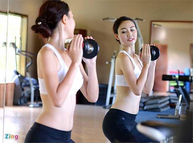 Đến ngày sơ khảo, cô gái Hà thành giảm được tới hơn 4,5 kg khi chỉ còn 61,5 kg. Các chỉ số cơ thể lúc này 85 - 66,5 - 103. Tuy nhiên, thân hình của Trà My vẫn chưa lý tưởng như nhiều thí sinh đồng hành.