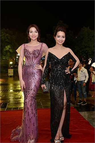 Hoa hậu Kỳ Duyên chụp cùng diễn viên Mai Thu Huyền.