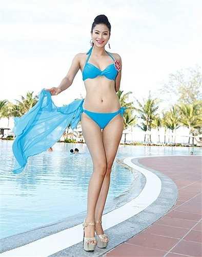 Tại Hoa hậu Việt Nam 2014, dù chỉ lọt top 10 nhưng những hình ảnh áo tắm của Phạm Hương cũng làm xốn xang lòng người.