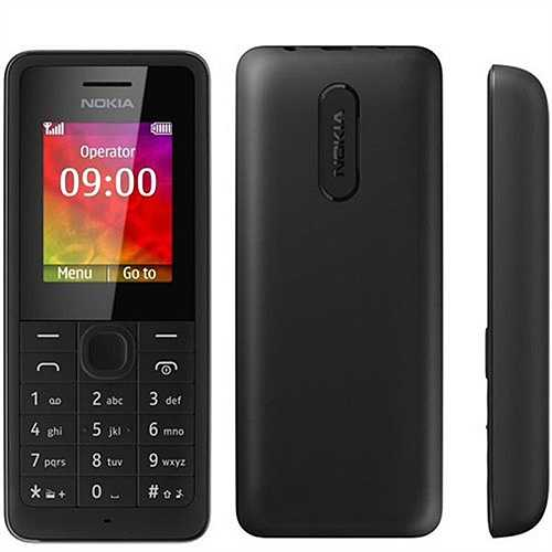 """Nokia 106 (500.000 đồng). Là phiên bản cao hơn của Nokia 105 với vẫn kiểu dáng thiết kế có phần vuông vức nhưng màn hình trang bị lớn hơn, 1,8 inch độ phân giải 128 x 160 pixel đem lại không gian hiển thị tốt và dễ nhìn hơn so với """"đàn em"""". Giá của máy vẫn ở mức rất hấp dẫn, chỉ 500.000 đồng giúp người dùng sẵn sàng bỏ tiền ra để sở hữu máy với một màn hình lớn hơn. Nokia 106 vẫn được trang bị viên pin 800 mAh đem lại thời lượng pin mà nhiều smartphone hiện nay phải ngưỡng mộ."""