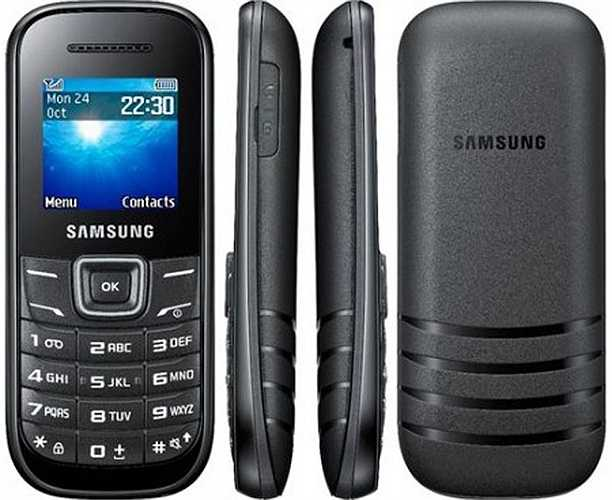 Samsung E1200 (350.000 đồng). Chiếc điện thoại thuộc hàng 'siêu rẻ' của Samsung sở hữu cho mình một thiết kế bo tròn đặc trưng của hãng đến từ xứ sở Kim Chi. Kiểu dáng tổng thể trông mượt mà và hiện đại cùng mức giá rất rẻ, thương hiệu tốt giúp E1200 nhanh chóng được nhiều người dùng quan tâm và chọn làm 'chú dế' luôn bên mình. Máy sở hữu một màn hình 1,5 inch độ phân giải 128 x 128 pixel, vừa đủ để nhìn rõ các nội dung và chữ đối với mắt người dùng bình thường. Vẫn giữ điểm nổi trội của dòn