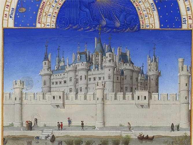 Đầu những năm 1400, Paris đã là một trong những thành phố lớn nhất châu Âu khi đó. Bức tranh vẽ Palais de la Cité - lâu đài được xây trên khu vực Île de la Cité