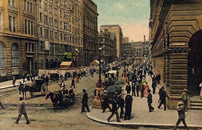 Năm 1900, trung tâm thành phố này là một nơi nhộn nhịp, đông đúc
