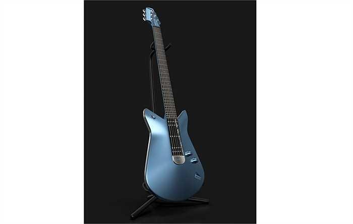 Đàn guitar điện được làm từ nhôm và gỗ, màu sơn của nó sẽ giống y như chiếc siêu xe Ford GT 2017. Cây đàn này không phải để bán mà nó sẽ đi kèm mỗi chiếc Ford GT 2017.