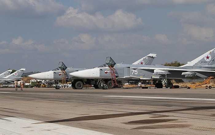 Các chiến cơ Su-24 của Nga ở Syria