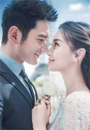 Huỳnh Hiểu Minh tự tin tuyên bố sẽ biến Angelababy thành công chúa trong ngày cưới. Họ đã là vợ chồng hợp pháp vào cuối tháng 5 nhưng trì hoãn đám cưới đến tận tháng 10.  (Nguồn: Zing)