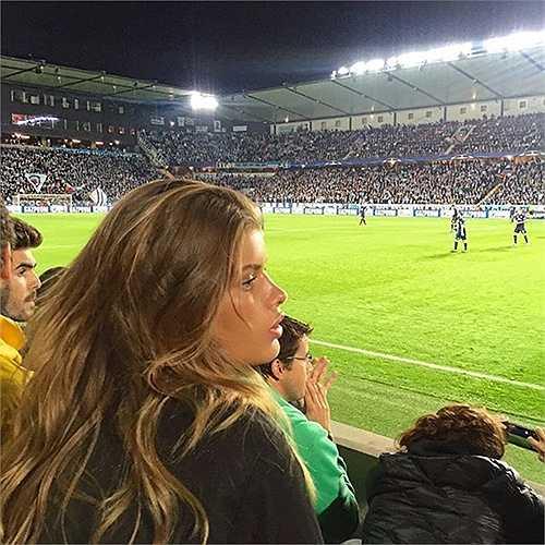Maja Darving từng xuất hiện trong trận đấu Malmo gặp Real Madrid tại Champions League cách đây 1 tuần