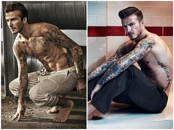 Không chỉ đi đầu trong phong cách thời trang, kiểu tóc, David Beckham cũng được coi là cầu thủ có nhiều hình xăm 'chất' nhất làng bóng đá thế giới